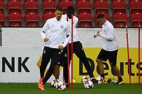 Sandro Wagner (Deutschland Germany), Antonio Rüdiger (Deutschland Germany), Niklas Süle (Deutschland Germany) - 07.10.2017: Abschlusstraining Deutschland, OPEL Arena Mainz