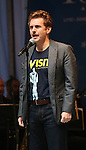 Jason Danieley performing at United presents 'Stars in the Alley' in  Shubert Alley on May 27, 2015 in New York City.