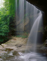 Starved Rock State Park, IL<br /> View from behind the waterfalls in LaSalle Canyon
