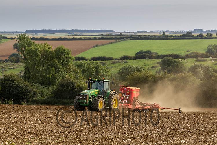 Drilling Winter Wheat in Rutland<br /> Picture Tim Scrivener 07850 303986