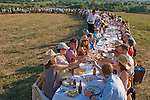 "A special outdoor dinner held at Jolie Vue Farms by the group ""Outstanding in the Field"" was held for 162 people. (Saturday, Oct. 4, 2008, in Brenham. ( Steve Campbell / Houston Chronicle)"