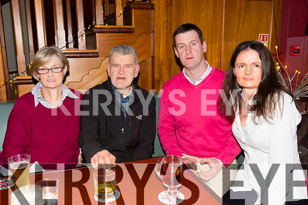 Brenda, Ted, John and Maureen O'Neill  enjoying the Tralee RFC Race Night at O'DONNELL'S on Friday