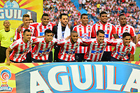 BARRANQUILLA-COLOMBIA, 21-04-2019: Jugadores de Atlético Junior, posan para una foto, antes de partido de la fecha 17 entre Atlético Junior y Deportivo Pasto, por la Liga Águila I 2019, jugado en el estadio Metropolitano Roberto Meléndez de la ciudad de Barranquilla. / Players of Deportivo Pasto, pose for a photo, prior a match of the 17th date between Atletico Junior and Deportivo Pasto, for the Aguila Leguaje I 2019 played at the Metropolitano Roberto Melendez Stadium in Barranquilla city, Photo: VizzorImage / Alfonso Cervantes / Cont.