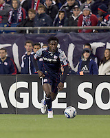 New England Revolution forward Kenny Mansally (7) at midfield. In a Major League Soccer (MLS) match, Real Salt Lake defeated the New England Revolution, 2-0, at Gillette Stadium on April 9, 2011.