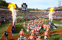 ANDREW SHURTLEFF/THE DAILY PROGRESS <br /> Virginia players take the field before the start of the game against Duke Saturday at Scott Stadium. Virginia defeated Duke 48-14.