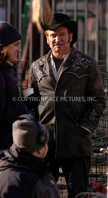 "WWW.ACEPIXS.COM . . . . .  ....NEW YORK, MARCH 17, 2006....Robin Williams filming on the set of ""August Rush"".....Please byline: AJ Sokalner - ACEPIXS.COM.... *** ***..Ace Pictures, Inc:  ..Philip Vaughan (212) 243-8787 or (646) 769 0430..e-mail: info@acepixs.com..web: http://www.acepixs.com"