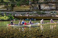 Canoeing the Buffalo National River near Kyles Landing.