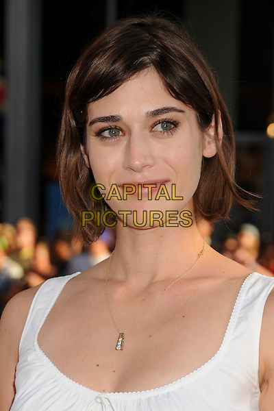 "Lizzy Caplan.""The Campaign"" Los Angeles Premiere held at Grauman's Chinese Theatre, Hollywood, California, USA..August 2nd, 2012.headshot portrait white sleeveless eyelashes .CAP/ADM/BP.©Byron Purvis/AdMedia/Capital Pictures."
