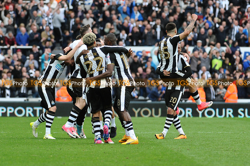 Newcastle United celebrate as they are confirmed as champions during Newcastle United vs Barnsley, Sky Bet EFL Championship Football at St. James' Park on 7th May 2017