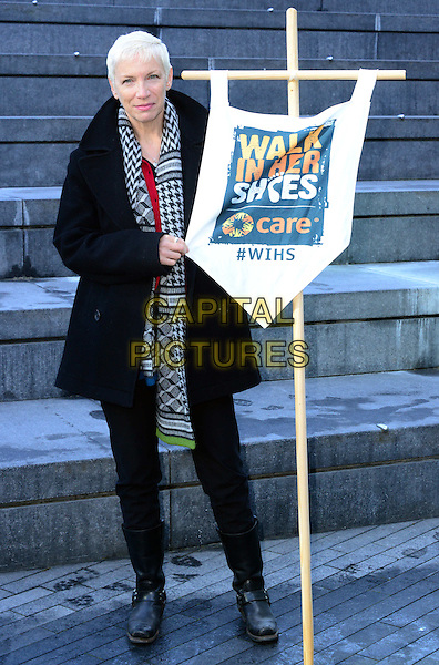 VIPs join 21st century suffragettes as well as two descendants of Emmeline Pankhurst at march in support of International Women's Day.<br /> CARE International's Walk In Her Shoes photocall, London, England  8th March 2015.<br /> CAP/JOR<br /> &copy;JOR/Capital Pictures