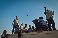 Indian children plays during a break at a rehabilitation centre in Sirpur village in the Dungarpur district of the Northern Indian state of Rajasthan on the 3rd of April 2011.