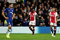 5th November 2019; Stamford Bridge, London, England; UEFA Champions League Football, Chelsea Football Club versus Ajax; Quincy Promes of Ajax celebrates as he scores for 1-2 in the 20th minute - Editorial Use