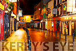 the usually busy Plunkett Street Killarney empty at 9pm on Saturday night