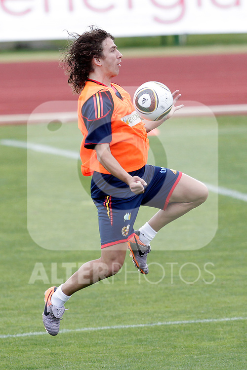 MADRID (25/05/09).- The Spanish Soccer national training session.  Puyol...PHOTO: Cesar Cebolla / ALFAQUI