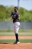 Pittsburgh Pirates pitcher Adonis Pichardo (12) during a Minor League Spring Training game against the Philadelphia Phillies on March 23, 2018 at the Carpenter Complex in Clearwater, Florida.  (Mike Janes/Four Seam Images)