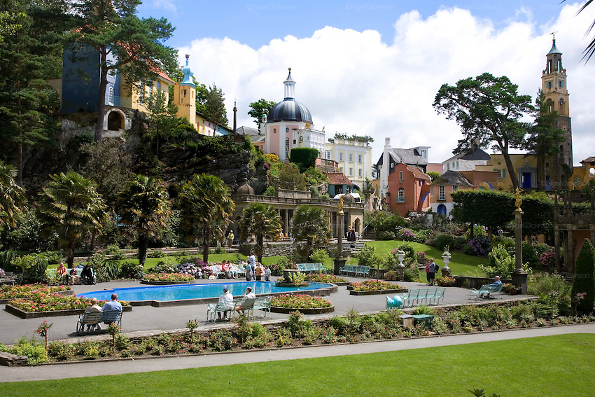 The Quirky Welsh Town Of Portmeirion Nigel Dickinson