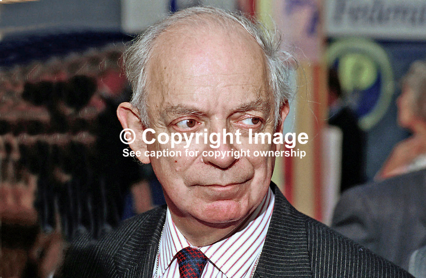 John Biffen, MP, Conservative Party, Britain, UK, annual conference, Blackpool, 199510044.<br />