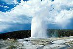 Wyoming: Yellowstone National Park.  Old Faithful Geyser.  Photo #: wyyell101..Photo copyright Lee Fosterwww.fostertravel.com, 510/549-2202, lee@fostertravel.com, .