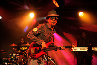 LONDON, ENGLAND - OCTOBER 5: Tony Robinson of 'Aswad' performing at Under The Bridge on October 5, 2018 in London, England.<br /> CAP/MAR<br /> &copy;MAR/Capital Pictures