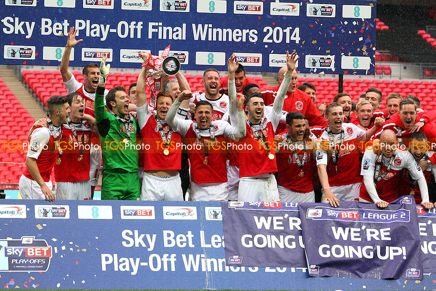 Fleetwood Town Promotion winners - Burton Albion vs Fleetwood Town, Sky Bet Play Offs - League Two play off final Wembley Stadium - 26/05/14 - MANDATORY CREDIT: Dave Simpson/TGSPHOTO - Self billing applies where appropriate - 0845 094 6026 - contact@tgsphoto.co.uk - NO UNPAID USE