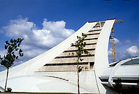 1985 file Photo - Unachieved tower of the Montreal Olympic stadium, <br /> <br /> La tour inachevee du stade Olympique en 1985