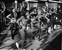 Oakland Raiders...Raiderettes tryouts at the Hyatt Hotel in Oakland. (1979 photo by Ron Riesterer)
