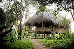 The Sothourn Ecolodge has five thatched roof bamboo huts in the community-based ecotourism village of Chi Phat, located on the Preak Piphot River, in the Southern Cardomom Protected Forest, Koh Kong Province, Cambodia,  on Wednesday, Dec. 2, 2010.
