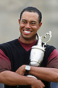 WOODS Tiger (USA) hugs the Claret Jug after winning the 134th Open Championship played over the Old Course, St Andrews on 18th July 2005 in St Andrews, Scotland....