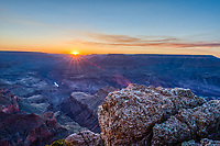 The sunsets in the Grand Canyon are not always easy to attain but they are almost alway beautiful.   The grand canyon are a geologic wonder and there are multiple theories as to how they were created but there is one thing for sure they are stunning to see.  Everyone wants to capture the beauty of the canyons so when you find a location where there are not a hundred people already there you get your spot and wait.   I found this secluded spot off of a ledge but by the time the sun was going down there were twenty to thirty people behind me taking pictures. I was getting a little concerned that this rock I was standing on might not survive all the additonal people but luckly I am still here.  The grand canyons offer up some of the most breath-taking scenic landscape with many varied scenic vista's to pick from and this was just one  of the many choices.  All the overlook offer an impressive view.  The whole canyons are a geologic wonder with the colorado river flowing through it creating more erosion changing the canyons as time goes by.