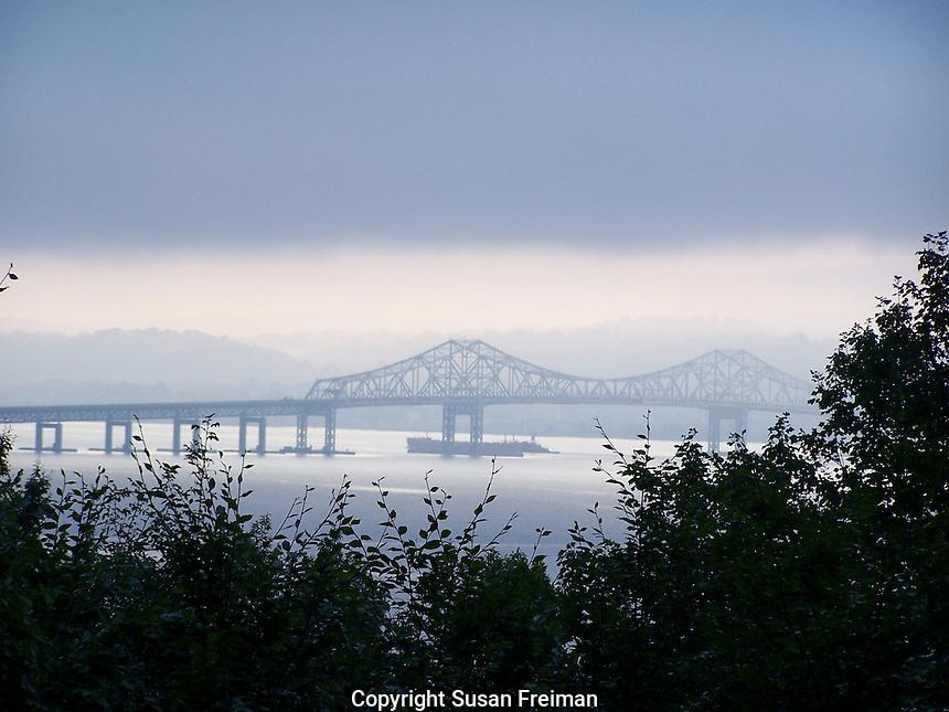 photo of the Tappan Zee Bridge the day before hurricane Irene