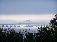 photo of the Tappan Zee Bridge the day before hurricane Irene