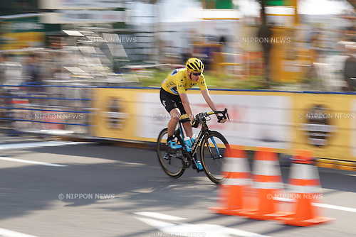 Chris Froome (Team SKY, GBR) participates in the Saitama Criterium 2015 race on October 24, 2015 in Saitama, Japan. 2015 is the third year that the organisers of Le Tour de France have brought the race to Japan for a special one day criterium race.  (Photo Mark Eite/AFLO)