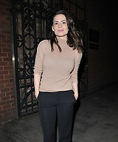 """MAY 16 Hayley Atwell at the """"Rosmersholm"""" theatre cast stage door departures"""