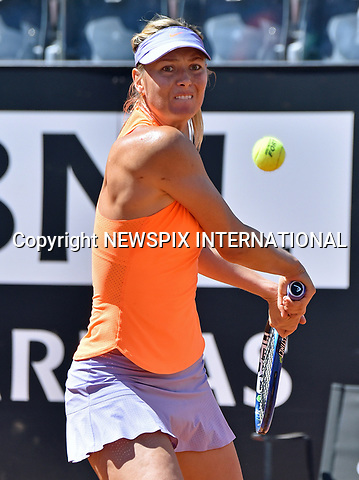 15.05.2017; Rome, Italy: MARIA SHARAPOVA<br />appears to have the dreaded Orange-Peel Effect!<br />Her cellulite was in evidence when she was competing in the Italian Open in Rome. <br />Hours after she was denied a wild card for the French Open, Sharapova pulled out with a thigh injury while leading her second-round tie in Rome against Mirjana Lucic-Baroni. She has however, been granted a wildcard for Wimbledon.<br />The tennis superstar has returned to the court after a 15-month drugs suspension.<br />Mandatory Credit Photo: &copy;NEWSPIX INTERNATIONAL<br /><br />PHOTO CREDIT MANDATORY!!: NEWSPIX INTERNATIONAL(Failure to credit will incur a surcharge of 100% of reproduction fees)<br /><br />IMMEDIATE CONFIRMATION OF USAGE REQUIRED:<br />Newspix International, 31 Chinnery Hill, Bishop's Stortford, ENGLAND CM23 3PS<br />Tel:+441279 324672  ; Fax: +441279656877<br />Mobile:  0777568 1153<br />e-mail: info@newspixinternational.co.uk<br />Please refer to usage terms. All Fees Payable To Newspix International