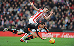 Ander Herrera of Manchester United is challenged by Marco Van Ginkel of Stoke City<br /> - Barclays Premier League - Stoke City vs Manchester United - Britannia Stadium - Stoke on Trent - England - 26th December 2015 - Pic Robin Parker/Sportimage