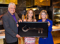 LAS VEGAS, NV - May 21 : Clark County Commisioner Steve Sisolak, Giada DeLaurentiis and Clark County Commisioner Chris Giunchigliani pictured as Giada DeLaurentiis recives the key to The Las vegas Strip at Giada Restaurant at The Cromwell in Las Vegas, NV on May 21, 2014. © Kabik/ Starlitepics ***HOUSE COVERAGE***