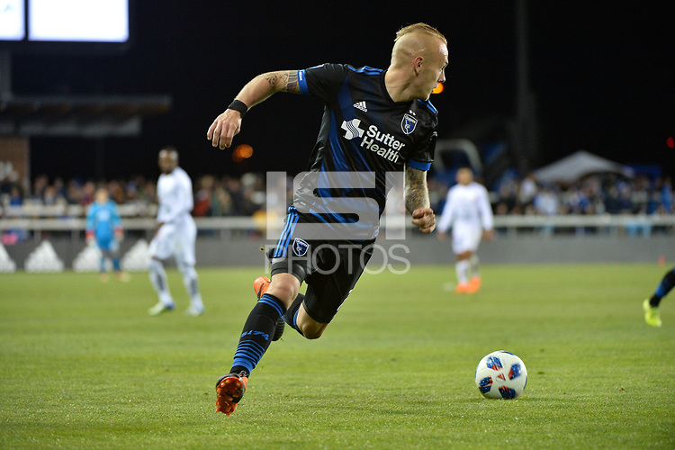 San Jose, CA - Saturday March 24, 2018: Magnus Eriksson during an international friendly between the San Jose Earthquakes and Club Leon FC at Avaya Stadium.