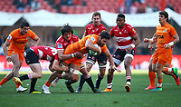 during the Super Rugby quarter-final match between the Emirates Lions and the Jaguares at the Emirates Airlines Park Stadium,Johannesburg, South Africa on Saturday, 21 July 2018. Photo: Steve Haag / stevehaagsports.com