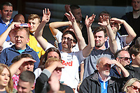 Preston North End fans enjoy the atmosphere inside The City Ground<br /> <br /> Photographer David Shipman/CameraSport<br /> <br /> The EFL Sky Bet Championship - Nottingham Forest v Preston North End - Saturday 31st August 2019 - The City Ground - Nottingham<br /> <br /> World Copyright © 2019 CameraSport. All rights reserved. 43 Linden Ave. Countesthorpe. Leicester. England. LE8 5PG - Tel: +44 (0) 116 277 4147 - admin@camerasport.com - www.camerasport.com
