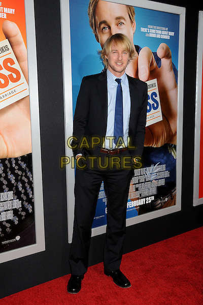 "OWEN WILSON.""Hall Pass"" Los Angeles Premiere held at The Cinerama Dome,  Hollywood, California, USA, 23rd February 2011..full length suit hands in pockets  blue shirt tie black jacket .CAP/ADM/BP.©Byron Purvis/AdMedia/Capital Pictures."
