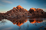 Sunrise at Barker Dam with reflection in water