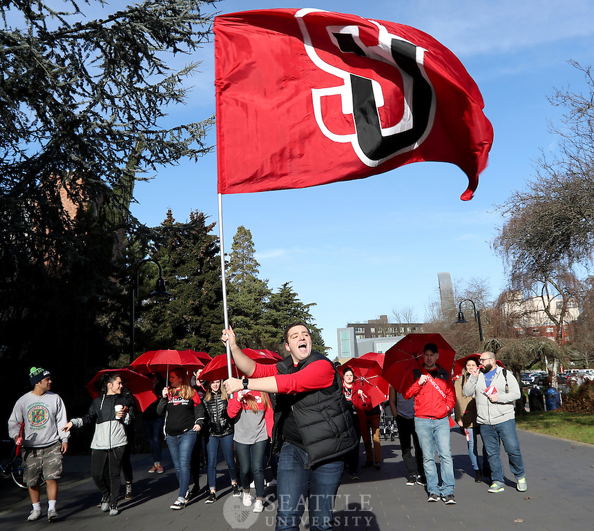 February 2nd 2017 - Seattle University's 125th Anniversary Homecoming parade on campus.