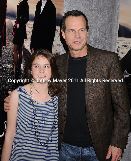 """LOS ANGELES, CA - January 12: Bill Paxton and daughter attend HBO's """"Big Love"""" Season 5 party at the Directors Guild Of America on January 12, 2011 in Los Angeles, California."""