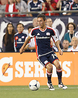 New England Revolution forward Diego Fagundez (14) looks to pass. In a Major League Soccer (MLS) match, the New England Revolution defeated Vancouver Whitecaps FC, 4-1, at Gillette Stadium on May 12, 2012.