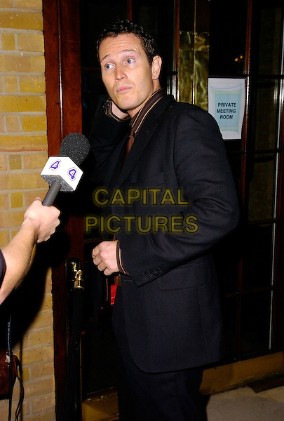 NICK MORAN.Arrivals at The Ice Ball, The Brewery, .London, England, October 23rd 2006..half length microphone interview funny.Ref: CAN.www.capitalpictures.com.sales@capitalpictures.com.©Can Nguyen/Capital Pictures
