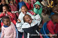 Africa, Swaziland, Malkerns. Nest organization artisan project. Bethany NCP school & school children.