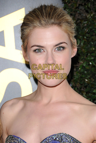 RACHAEL TAYLOR .at G'Day USA LA Black Tie Gala held at The Hollywood Palladium in Hollywood, California, USA, January 22nd, 2011..portrait headshot beauty hair up  blue strapless gold beaded .CAP/RKE/DVS.©DVS/RockinExposures/Capital Pictures.