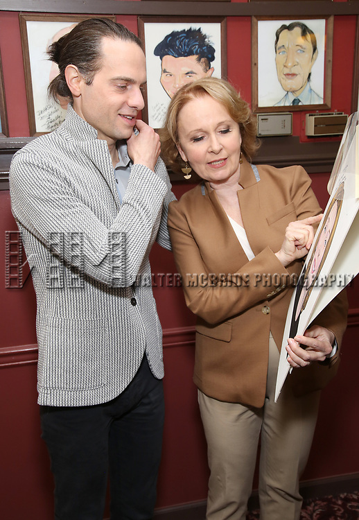 Jordan Roth and Kate Burton attend the Sardi's Caricature Unveiling for Kate Burton joining the Legendary Wall of Fame at Sardi's on June 28, 2017 in New York City.