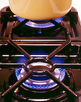 NATURAL GAS FLAME: STOVE BURNER