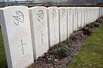 Memorial headstones graves, HMS Worcester deaths resulting from enemy action on 12th February 1942, Shotley naval cemetery, Suffolk